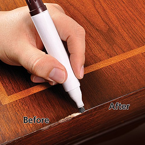 Rejuvenate Wood Furniture & Floor Repair Markers Make Scratches Disappear in Any Color Wood - 6 Colors; Maple, Oak, Cherry, Walnut, Mahogany, Espresso - 4
