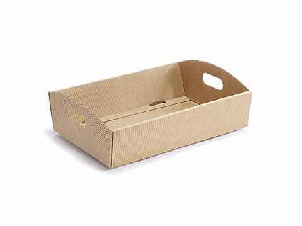 8 bandejas de cartón rústico tamaño mediano
