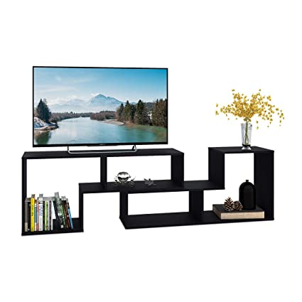 DEVAISE TV Stand 2 Pieces Bookcase Bookshelf 059quot Thk