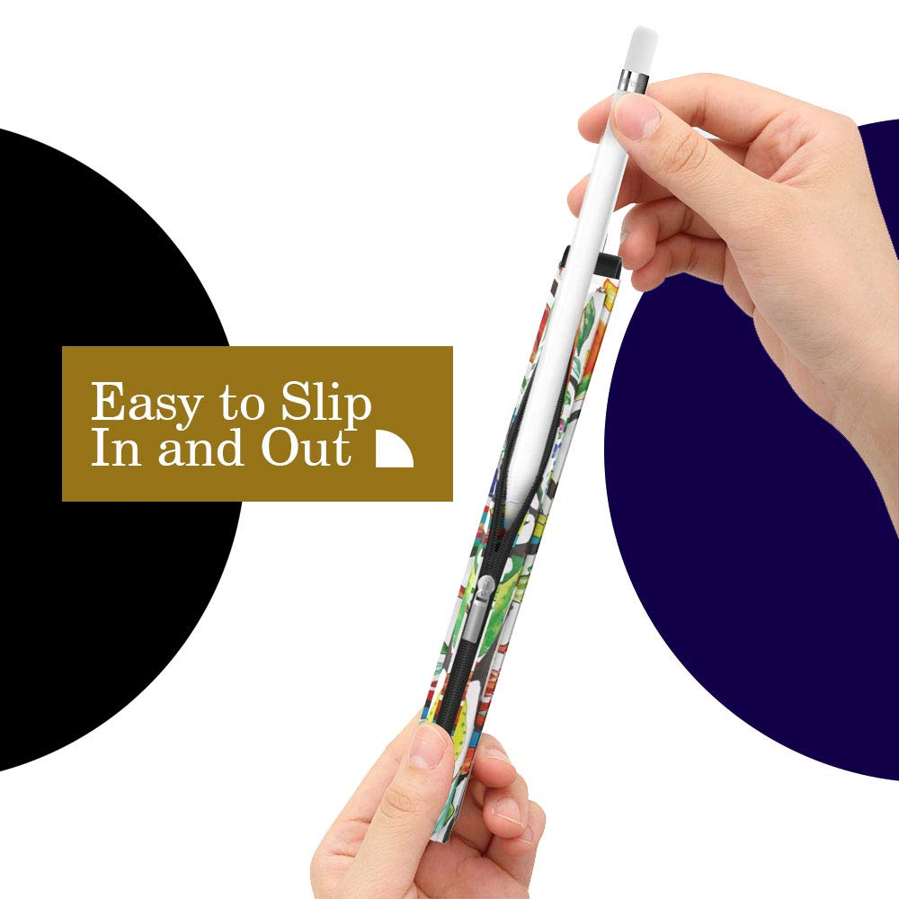 /Árbol de Suerte Pencil de PU con Cremallera y Correa Case para iPad 10.2 2019,iPad Air 3 2019,iPad Pro 11 2018,iPad Pro 12.9 2018 MoKo Funda de L/ápiz Compatible con Apple Pencil 1st//2nd