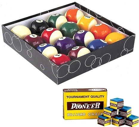 Oah - Juego de bolas de billar pool, 57,2 mm, 15 bolas de colores ...