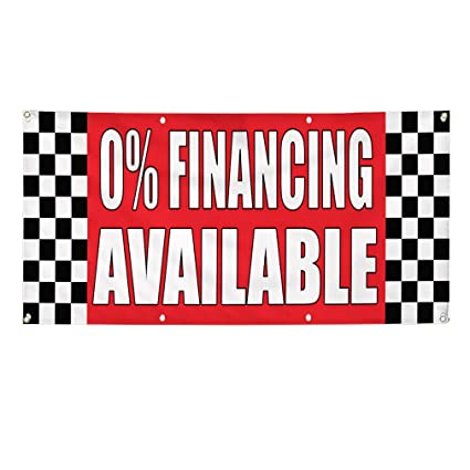Amazon Com Vinyl Banner Sign 0 Financing Available Auto