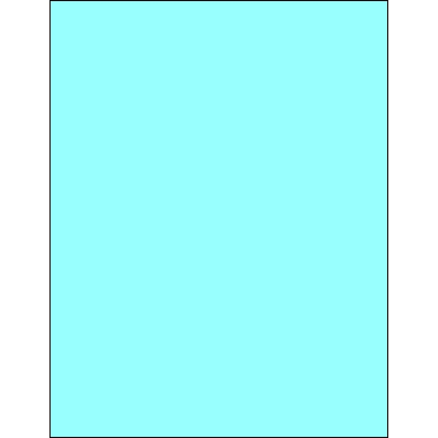 Pack of 100 Tape Logic TLLL185BE Rectangle Laser Labels 8 1//2 x 11 Pastel Blue