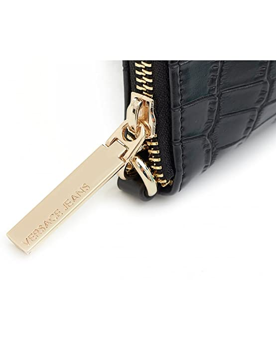 a022cf3290 Versace Jeans Access Croc Effect Button Logo Crossbody Bag One Size BLACK   Amazon.co.uk  Shoes   Bags
