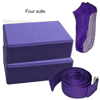 YB- 2 Premium Yoga Block + Metal D-Ring avec Yoga Set (Multi-pièce) Haute densité Anti-Sweat et Anti-Bubble EVA mousse Pilates légers de soutien Pilates, améliorer la posture, l'élasticit&ea
