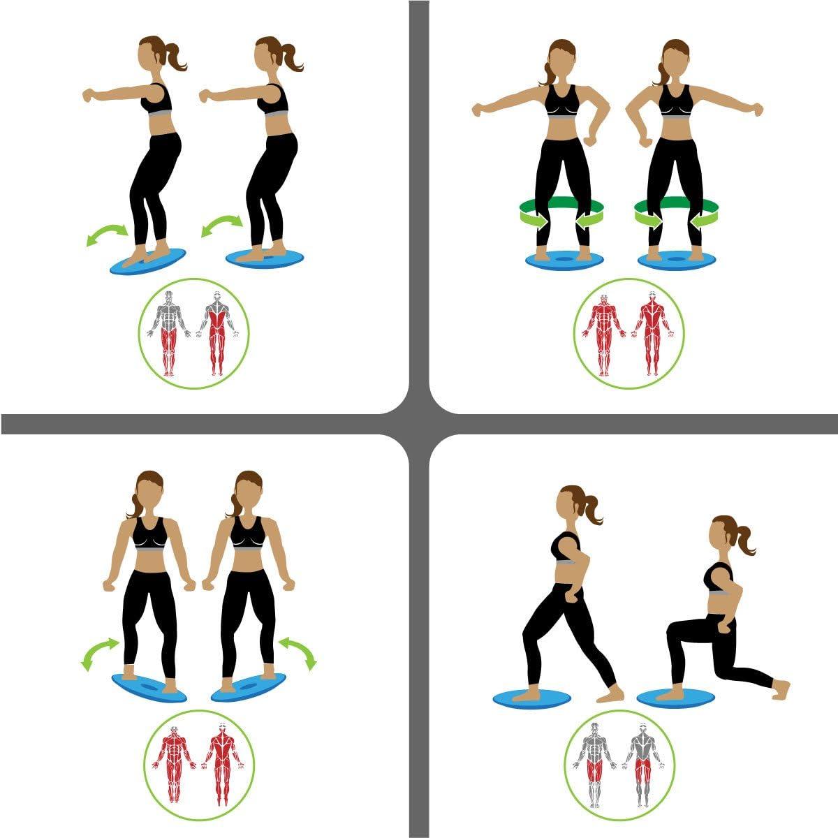 Eyepower Balance Board 40cm Therapiekreisel Fitness Training Physiotherapie Gleichgewicht Trainer Sport Wackelbrett