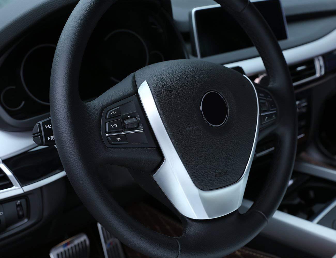 coprivolante in ABS Cromato per BMW X3 X4 X5 F15 F25 F26 2014-2016 Top-Auto