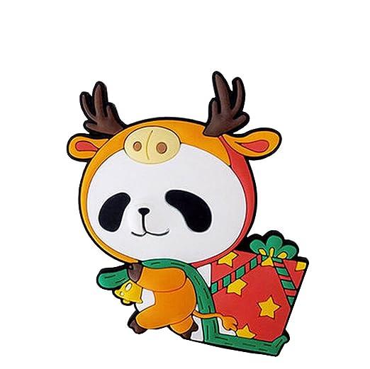Juego de 2 dibujos animados Elk Panda imán para nevera imanes para ...