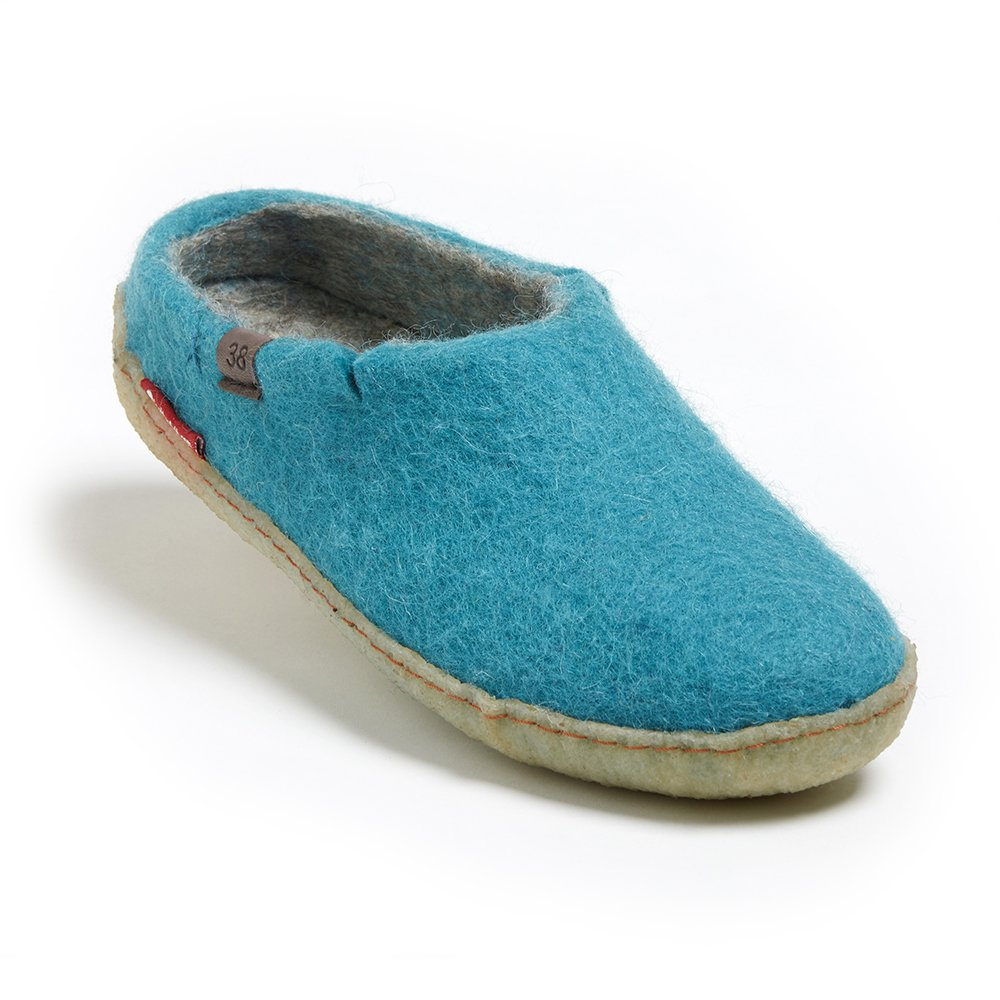 betterfelt Unisex Classic Woolen Slipper for Adults - All Natural Wool - Ultra Comfortable - Many Sizes and Colors B079CK7YTN Adult 41|Light Blue