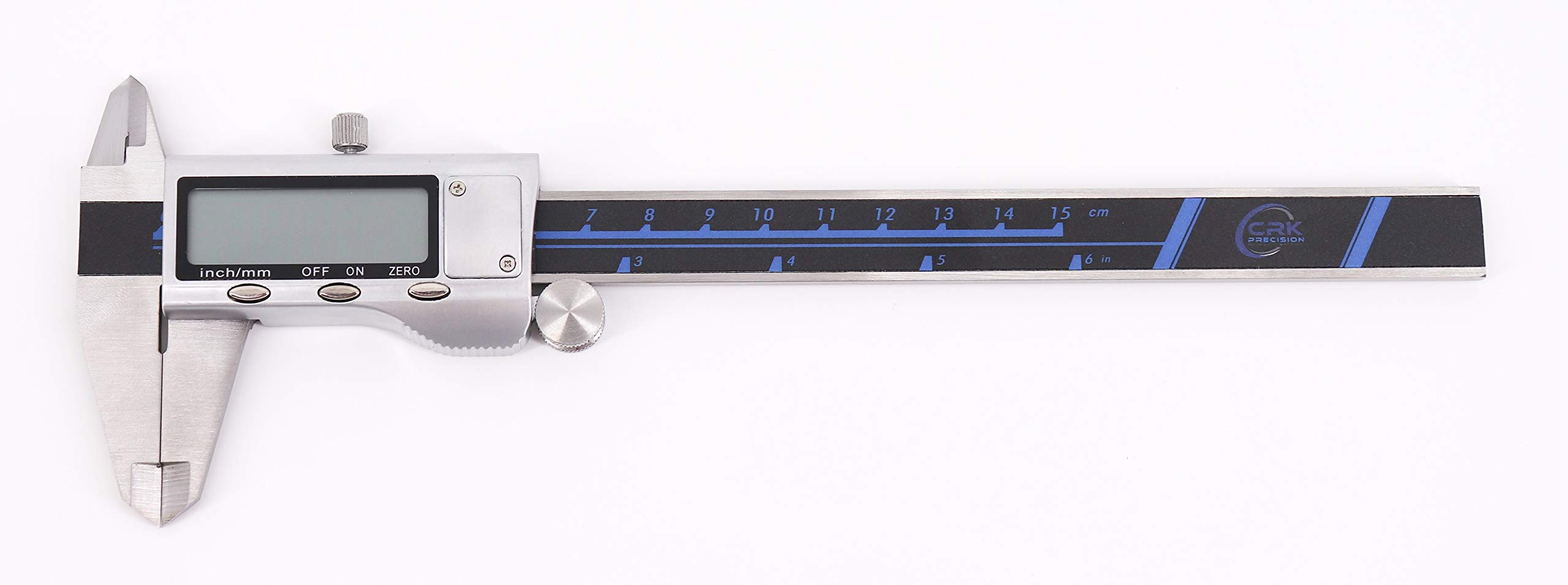 Digital Caliper | 0-6 Inch Stainless Steel Electronic Digital Caliper | English Standard and Metric Conversion | Full Metal Jacket by CRK Precision