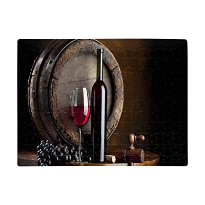 INTERESTPRINT Still Life with Red Wine Jigsaw Puzzles 252 Pieces Puzzles Games Puzzles Adult or Kid Puzzles (A3 Size): Toys & Games