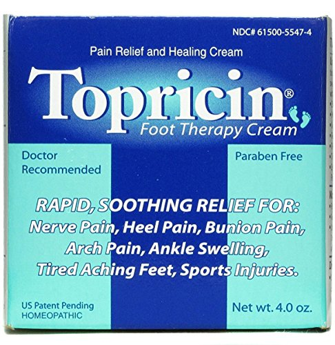 Topricin Foot Pain Relief Therapy Cream (4 oz) Fast Acting Pain Relieving Rub (Best Foot Pain Relief Cream)
