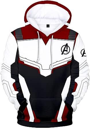 Pandolah Boy's Avengers Endgame Fashion Hoodie 3D Print Superhero Sweatshirt Quantum Pullover