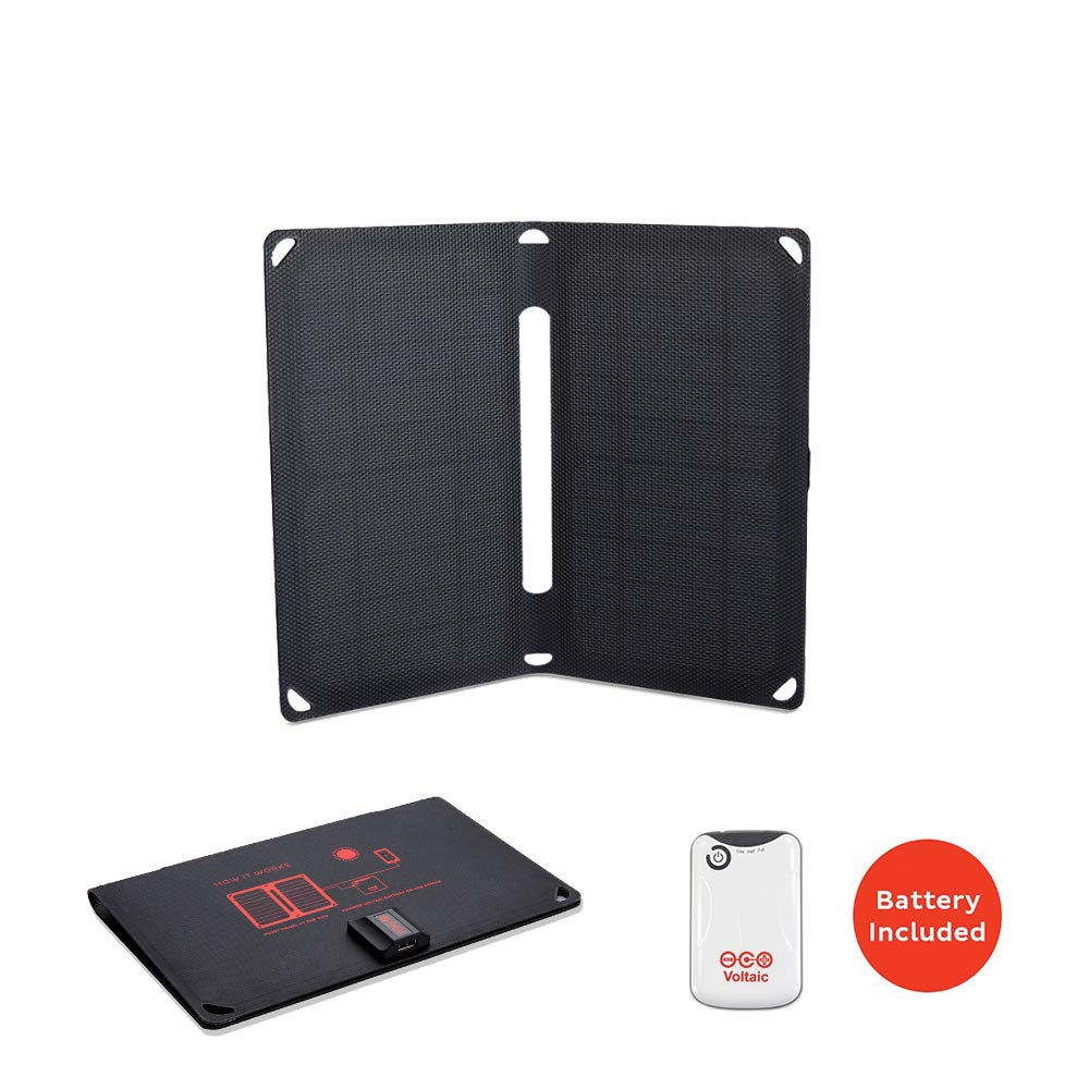 Voltaic Systems Arc 10 Watt Rapid Solar Panel Charger | Includes a Battery Pack (Power Bank) and 2 Year Warranty | Powers Phones Compatible with iPhone, Tablets, USB Devices and More by Voltaic Systems