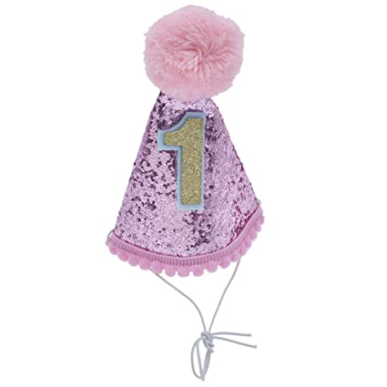 Towashine Glitter Dog First Birthday Hat For 1 Year Old Small Puppy Cat Kitty