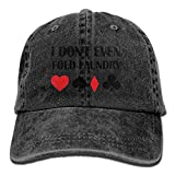 Personality Caps HatsEven Fold Laundry Poker Adjustable Hip-Hop Cotton Washed Denim Caps Ash