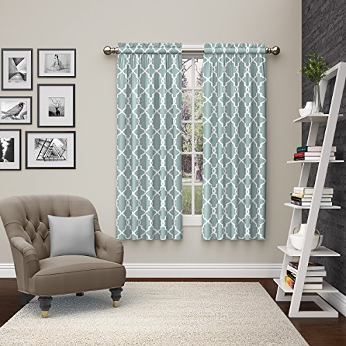 (Pairs to Go 15617056X084SPA Vickery 56-Inch by 84-Inch Window Curtain Pair, Spa)