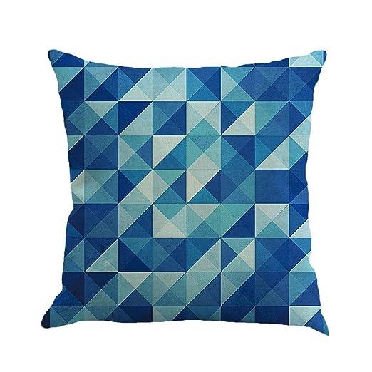 VJGOAL Moda sólido impresión geométrica Lino Suave Cojín ...