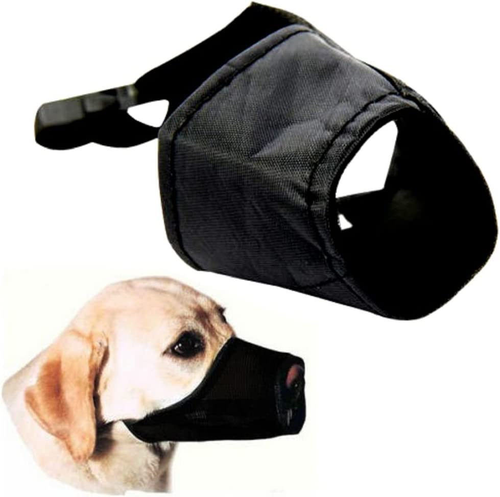 aus Nylon Alkyoneus verstellbarer Maulkorb f/ür Hunde