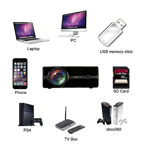 So De Buts UHAPPY U45 Mini Proyector, 1600 lumens, Full 1080p ...