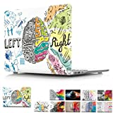 MacBook Pro 15 inch Case 2016 Release A1707, PaypHal MacBook Left and Right Brain Print Pattern Plastic Hard Case for MacBook Pro 15 inch with Touch Bar/Touch ID Model: A1707 - Brain 1