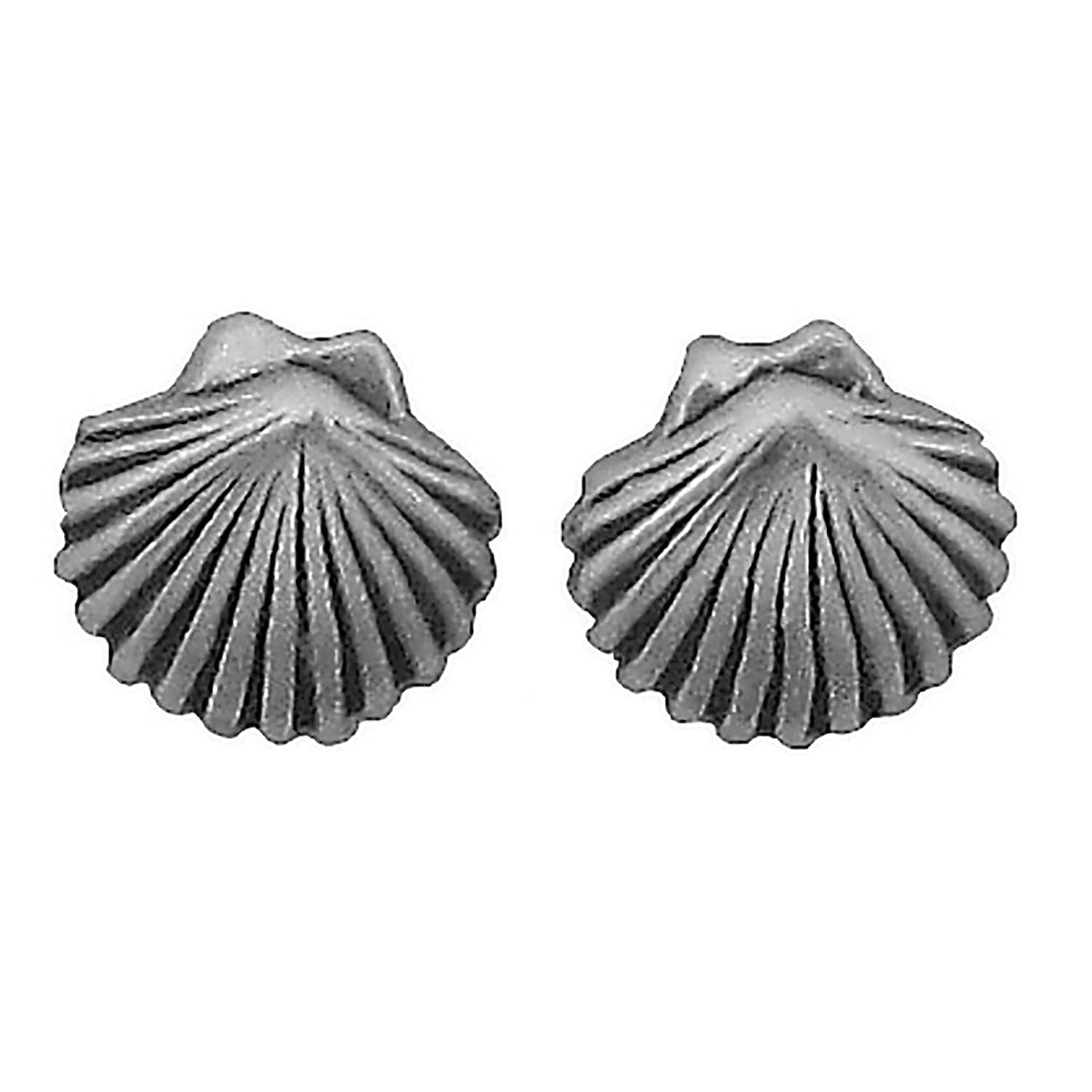 john women silver zoom greed jewellery seashell stud earrings sterling