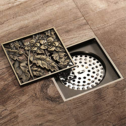 Pure Cupper Antique Floor Drain Square Shower Floor Drain Strainer 4-Inch Floor Drain Insect Proof, Anti-Backwater And Deodorant Floor Drain Anti-Clogging by YJZ (Image #3)