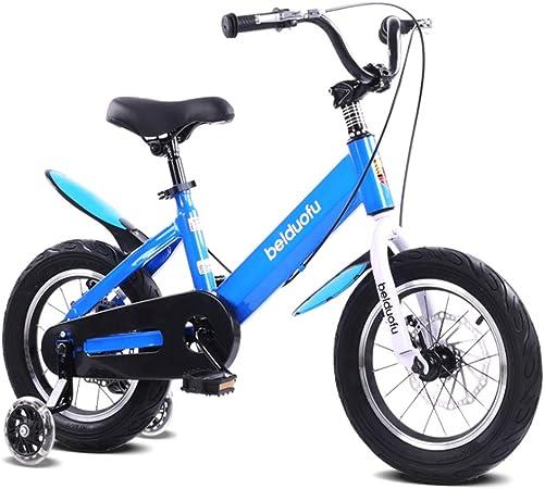 LEZI Niños Bicicleta niña y niño, Rueda de Entrenamiento de ...