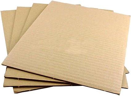 7.5 x 7.5 Kraft Corrugated Cardboard Pads Inserts Sheet 32 ECT 25 PCS