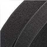 5 Yards 3/4'' Black Sew On Hook & Loop Tape Fastener Cable Tape