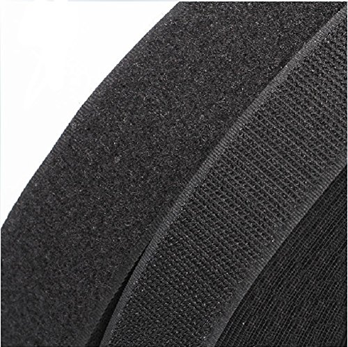 5 Yards 3/4'' Black Sew On Hook & Loop Tape Fastener Cable Tape by CLOHO