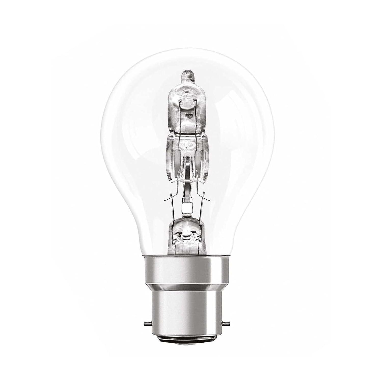 Osram Lot de 3 ampoules halog/ènes classiques 77 W BC B22 culot /à ba/ïonnette Eco Eqv /à 100 W 1320 lumens