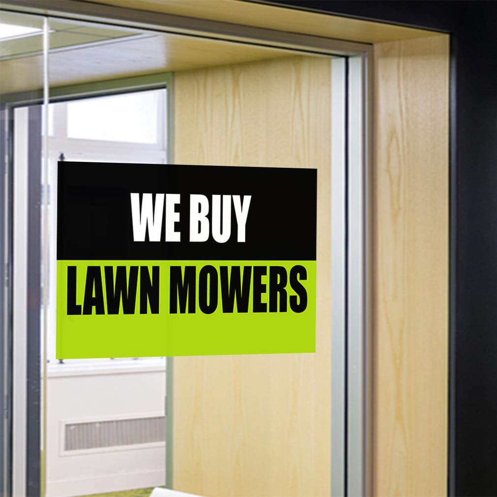 One Sticker Decal Sticker Multiple Sizes We Buy Lawn Mowers Business Lawn Mowers Outdoor Store Sign Black 69inx46in
