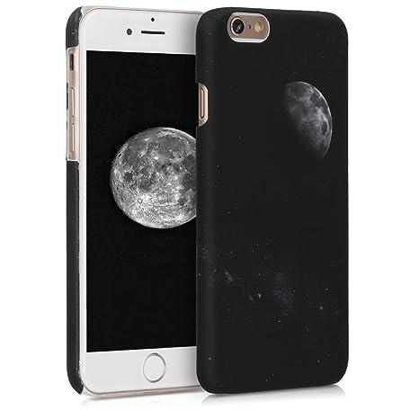 kwmobile Funda para Apple iPhone 6 / 6S - Carcasa [Trasera] Protectora para móvil - Cover Duro con diseño de Luna