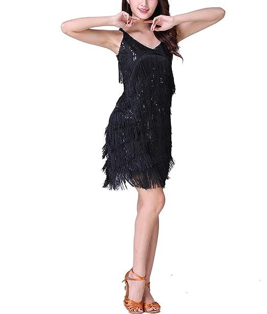 Amazon.com: whitewed Mujer Sexy Latina Salsa baile vestido ...
