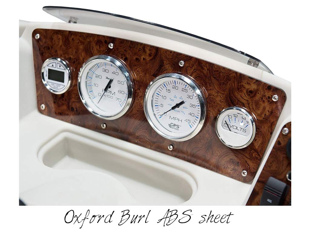 Oxford Burl ABS sheet for boat instrument panels