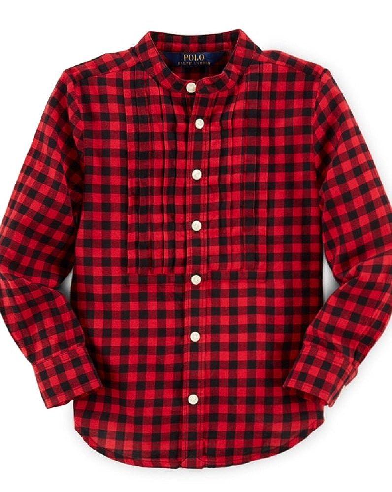 Ralp Lauren Little Girlsbutton-down Shirt Size 3//3t Color Red//black