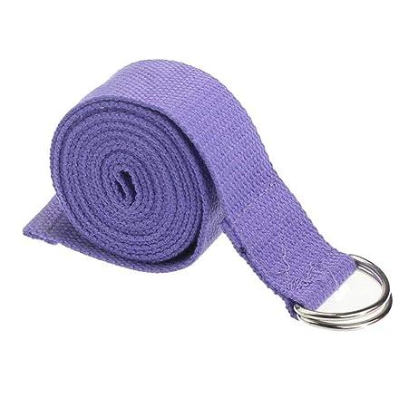 Ifchbauk - Cinturón de Yoga con Correa elástica y Anilla en ...
