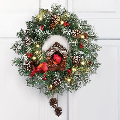 Lighted christmas wreath collectibles for 48 lighted crystal 3 d outdoor christmas wreath decoration