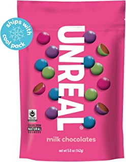 product image for UNREAL Milk Chocolate Gems | Naturally Colored, Less Sugar | 6 Bags