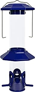 Nature's Way Bird Products 066565 Psp2 Funnel Flip Proof Squirrel Resistant Feeder, Blue