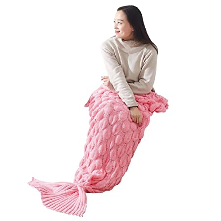 dced7d36842c fairlove Adults Woman Girl Mermaid Tail tricoté- with Fish Shell Cover –  Soft Warm And