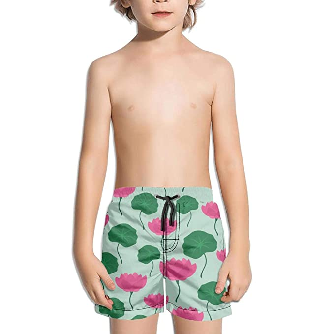 Ouxioaz Boys Swim Trunk Rainbow Unicorns Beach Board Shorts