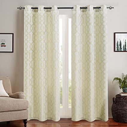Light Filtering Window Curtains For Living Room 95 Inches Long Jacquard Curtain Panels Bedroom Privacy