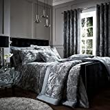 Catherine Lansfield Crushed Velvet Double Duvet Set Silver