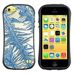 "Hypernova Slim Fit Dual Barniz Protector Caso Case Funda Para Apple iPhone 5C [Crystal Sun Azul Blanco Invierno""]"