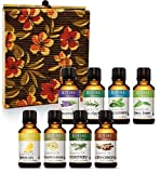 essential oil starter package - Aromatherapy Essential Oils Set for Diffuser Pure Therapeutic Grade - Gift Set of 8 10ml bottles - Lavender Peppermint Lemon Tea Tree Frankincense Cinnamon Eucalyptus Rosemary - Gifts for Women