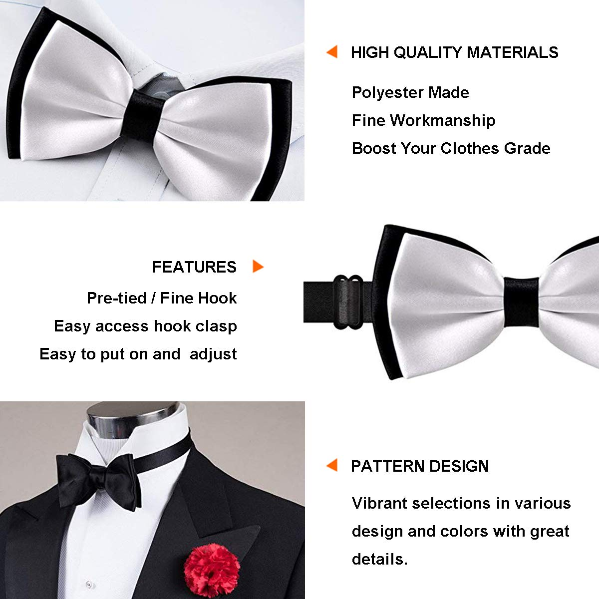 Adjustable Math Number Formula Equation Bowtie for Wedding Holiday Party INWANZI Mens Fashion Pre-Tied Bow Tie