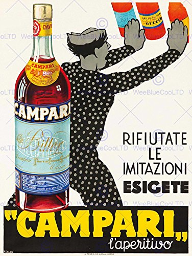 (Campari l'aperitivo. ca. 1934 FINE ART PRINT POSTER HOME DÉCOR BB8064B)