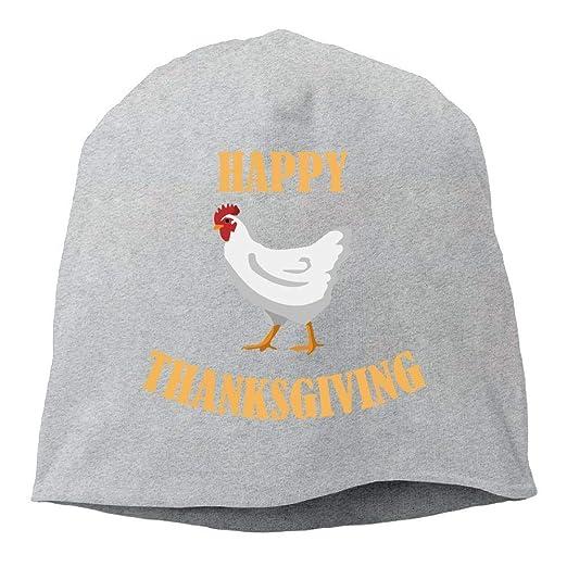 73a44127443 DAWENBI Happy Thanksgiving Chicken Beanie Skull Cap for Women and Men - Winter  Warm Knit Hat